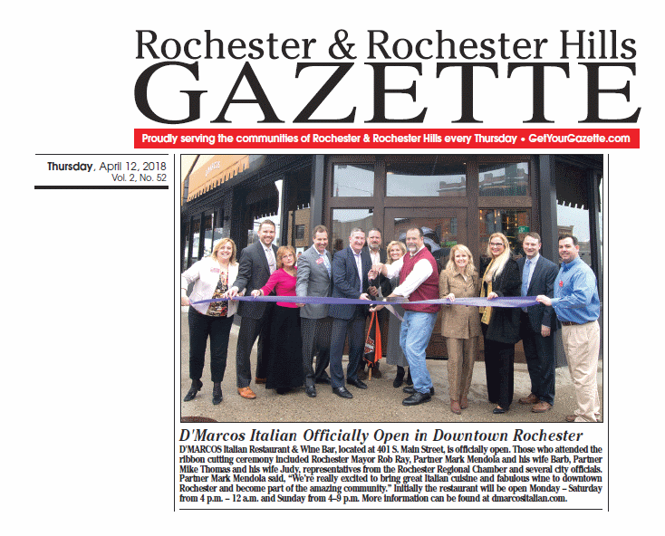 Rochester & Rochester Hills Gazette 041218