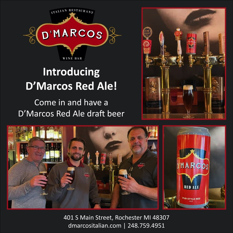 D'Marcos Red Ale draft beer